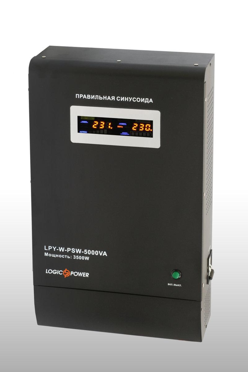 ИБП Logicpower LPY-W-PSW-5000VA (3500ВТ) с правильной суисоидой (подключаемая внешняя батарея 48V)