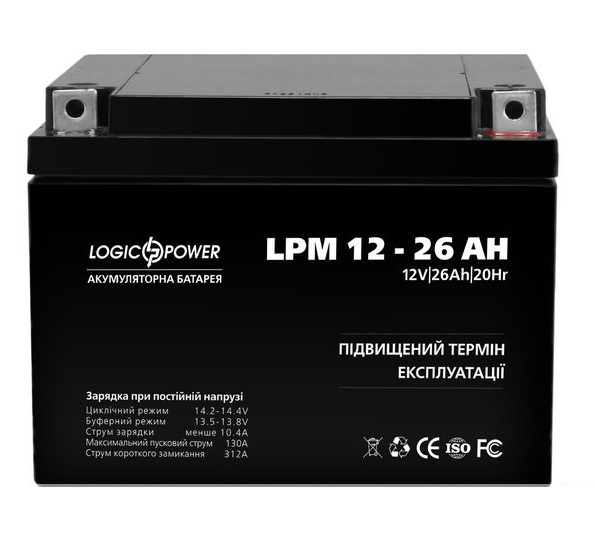 Аккумуляторная батарея Logic Power LPM 12-26 AH
